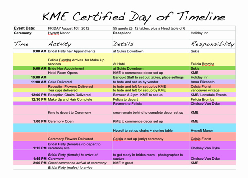 Day Of Wedding Timeline Template Awesome 6 Free event Planning Templates to Kickstart Your Week