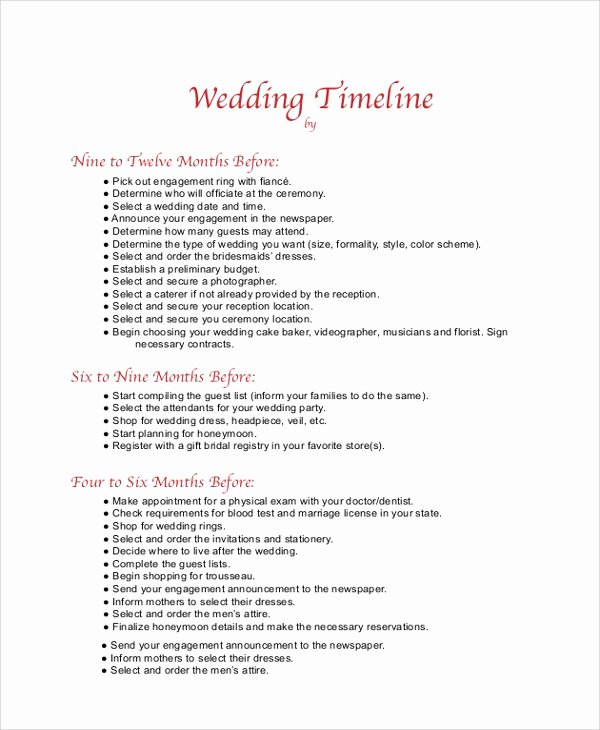 Day Of Wedding Timeline Template Awesome 8 Wedding Timeline Samples