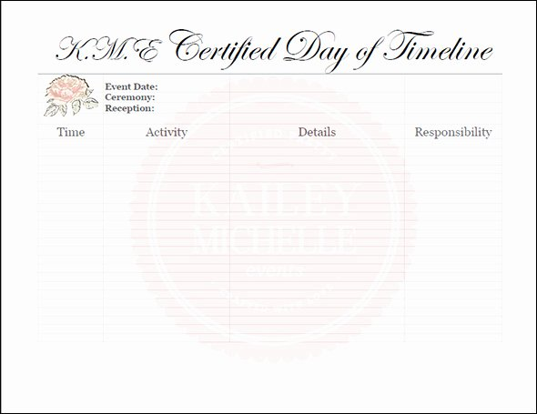 Day Of Wedding Timeline Template Inspirational 15 Best Timeline Templates