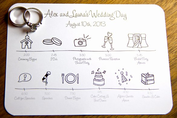 Day Of Wedding Timeline Template Inspirational 31 Wedding Timeline Templates Psd Ai Eps Pdf Word