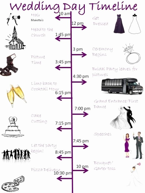 Day Of Wedding Timeline Template Luxury Wedding Day Timeline Template