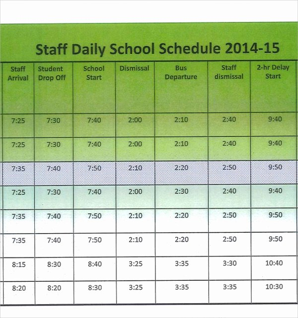 Daycare Staff Schedule Template Awesome Collection Daycare Employee Work Schedule Template S