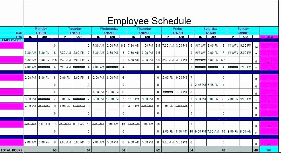 Daycare Staff Schedule Template Fresh Daycare Staff Schedule Template Size Emergent