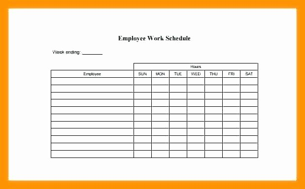 Daycare Staff Schedule Template Fresh Printable Employee Schedule Free Work Schedules Weekly