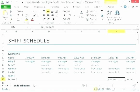 Daycare Staff Schedule Template Inspirational Employee Training Schedule Template 8 Staff Schedule