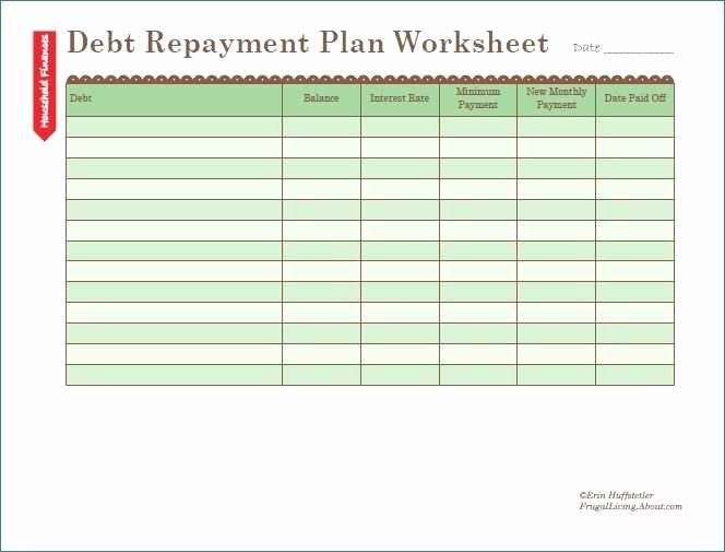Debt Payment Plan Template Awesome Debt Payment Plan Template Staggering Debt Payoff