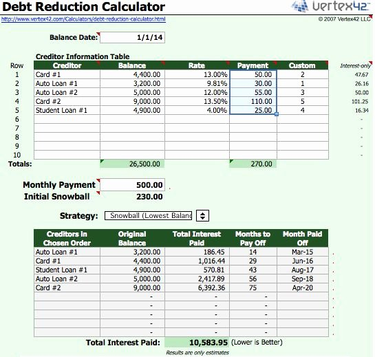 Debt Payment Plan Template Beautiful Free Debt Reduction Spreadsheet – Amandae