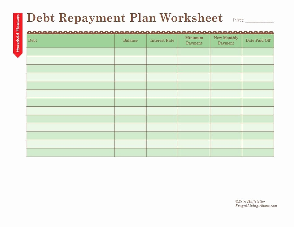 Debt Payment Plan Template Beautiful How to Use A Debt Repayment Plan Worksheet