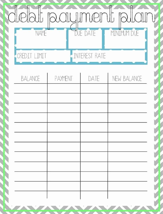 Debt Payment Plan Template Fresh Debt Payment Plan Printable by Arodgersdesigns On Etsy
