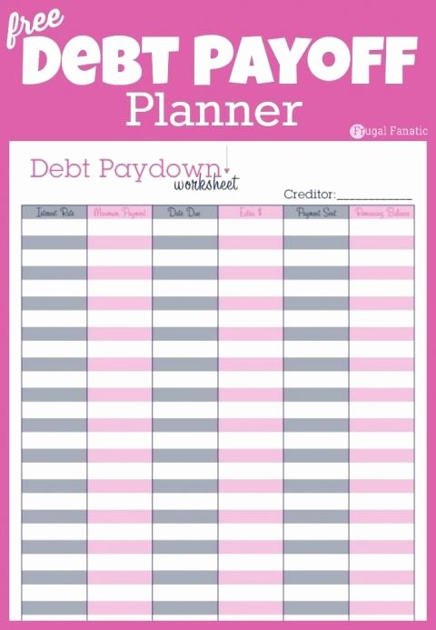 Debt Payment Plan Template Inspirational Debt Payoff Planner Free Printable
