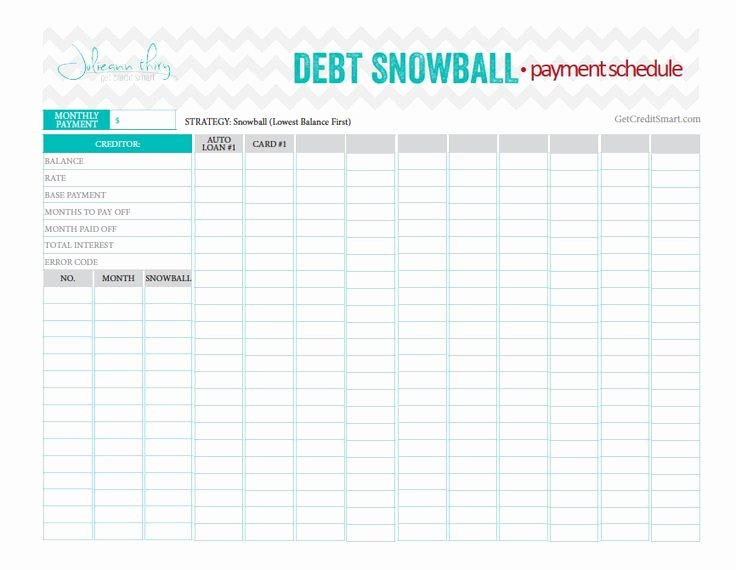 Debt Payment Plan Template Inspirational Debt Snowball Payment Schedule Beautiful and Perfect