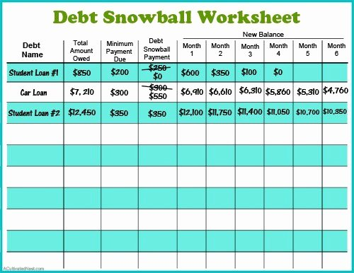 Debt Payment Plan Template New 11 Free Bud Printables to Help Get Your Money Under