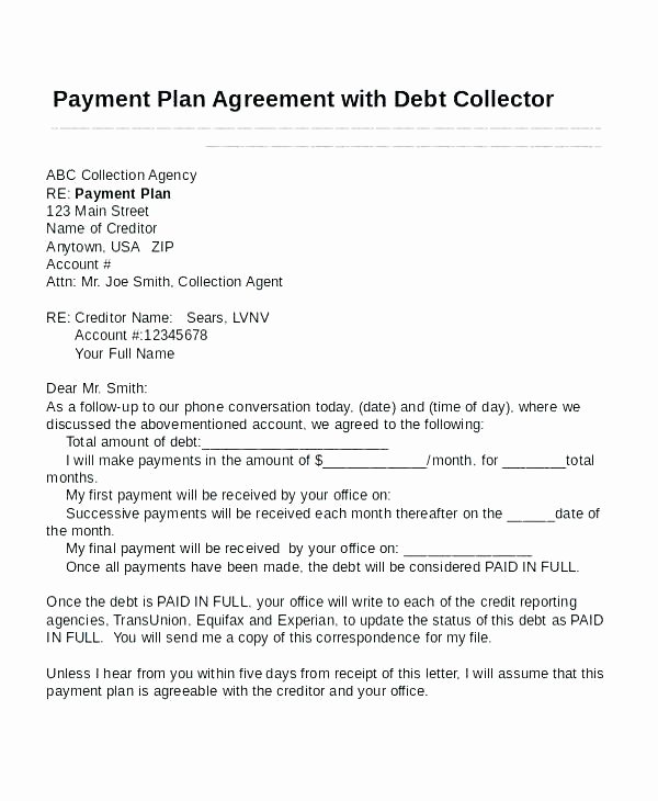 Debt Payment Plan Template Unique Paid In Full Letter Template – Flybymedia