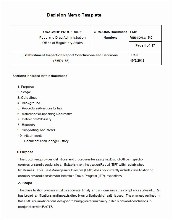 Decision Document Template Word Unique 8 Decision Memo Templates – Free Word Pdf Documents