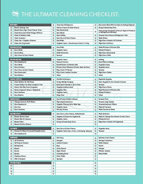 Deep Cleaning Checklist Template Awesome the Ultimate House Cleaning Checklist Printable Pdf