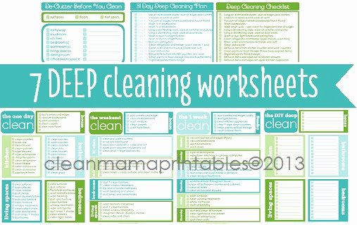 Deep Cleaning Checklist Template Elegant Deep Cleaning Archives Clean Mama