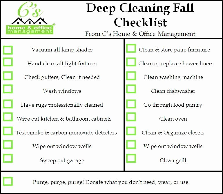 Deep Cleaning Checklist Template New Housekeeping Deep Cleaning House Services