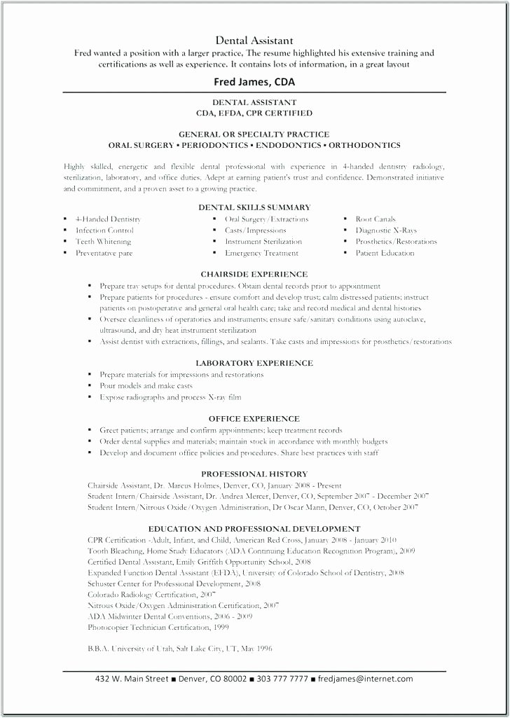Dental Curriculum Vitae Template Best Of Dental Curriculum Vitae Template Dentist Resume Sample