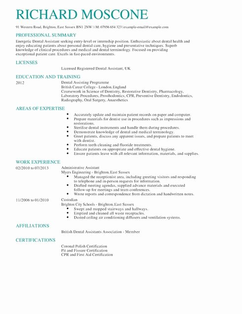 Dental Curriculum Vitae Template Best Of Seven Effective Tips In Improving Your Dentist Resume In