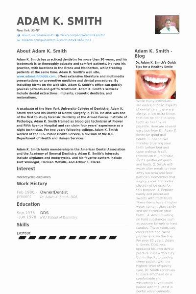 Dental Curriculum Vitae Template Fresh Dentist Curriculum Vitae