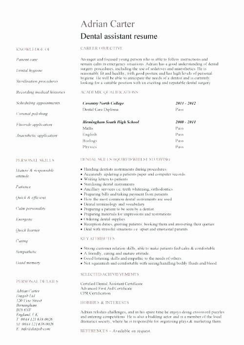 Dental Curriculum Vitae Template Unique Dentist Dental Nurse Cv Template – Mysticskingdomfo