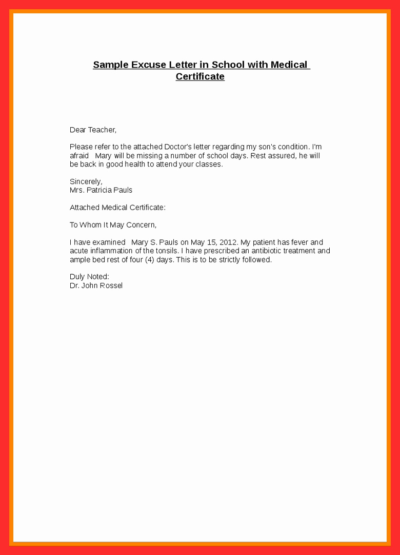 Dental Excuse Letter Template Luxury Dental Excuse Letter