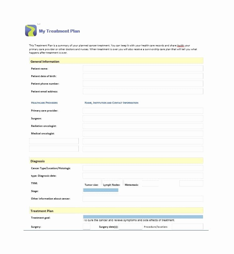 Dental Treatment Plan Template Awesome 35 Treatment Plan Templates Mental Dental Chiropractic