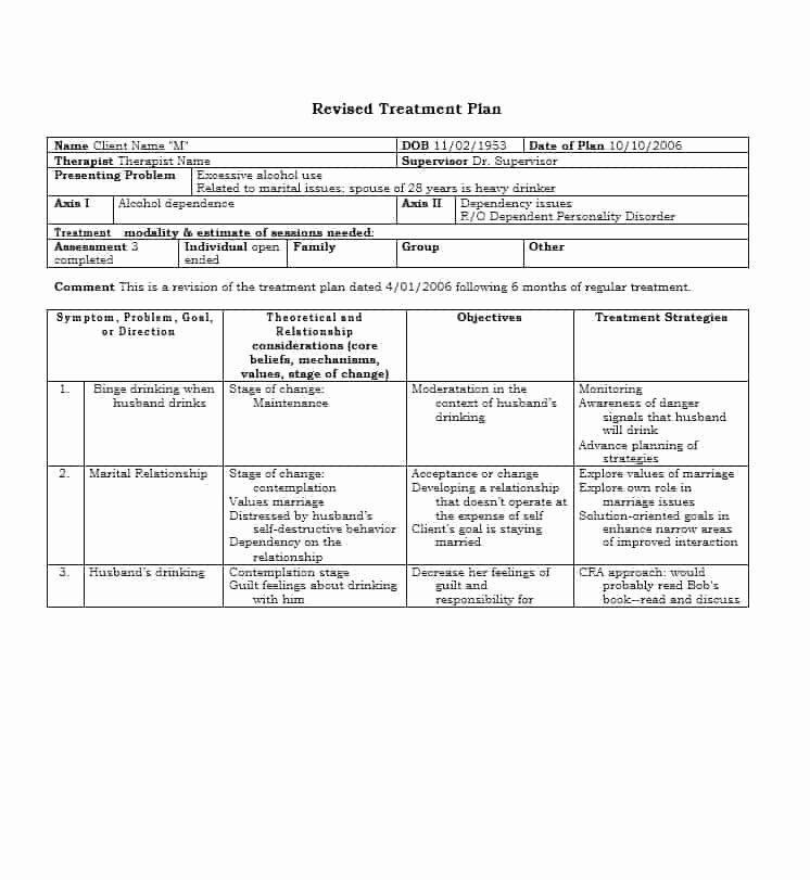 Dental Treatment Plan Template Elegant 35 Treatment Plan Templates Mental Dental Chiropractic