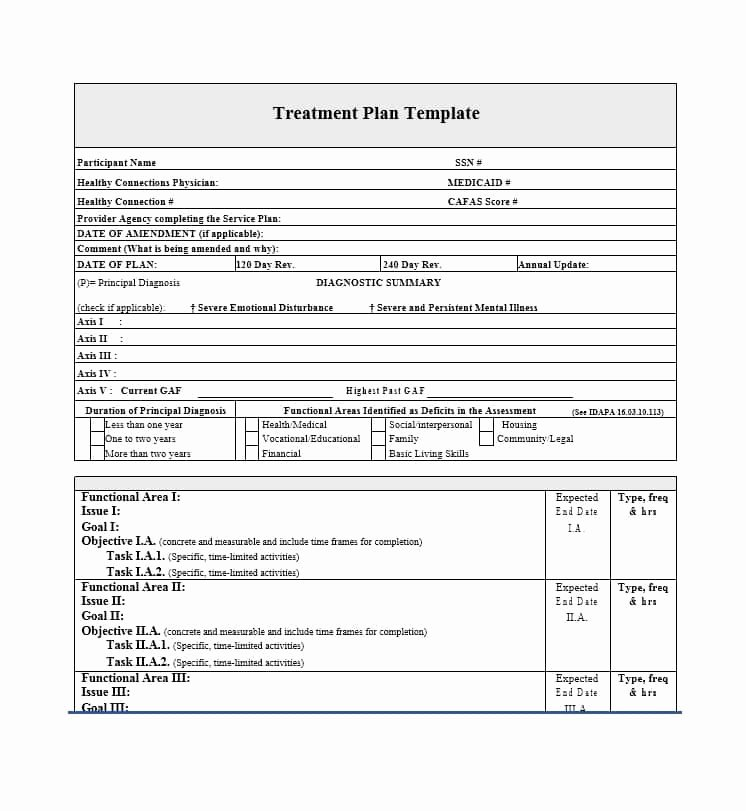 Dental Treatment Plan Template New 35 Treatment Plan Templates Mental Dental Chiropractic