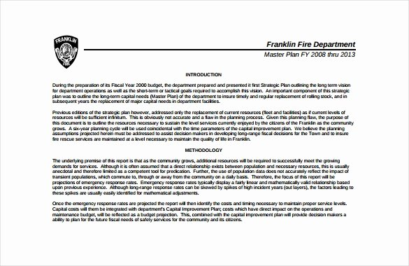 Department Strategic Plan Template New Fire Department Strategic Plan Template Invitation Template