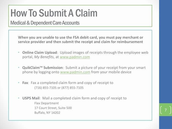 Dependent Care Fsa Receipt Template Inspirational Ppt Flexible Spending Account Fsa P Lan and Enrollment