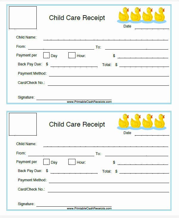 Dependent Care Fsa Receipt Template New 5 Daycare Invoice Templates – Examples In Word Pdf