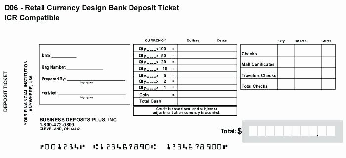 Deposit Slip Template Word Awesome Simple Direct Deposit form Slip Template Microsoft Word