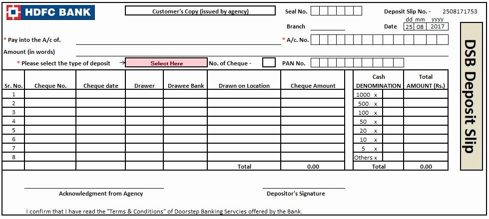 Deposit Slip Template Word Luxury 3 Bank Deposit Slip Template Excel Word and Pdf Excel Tmp