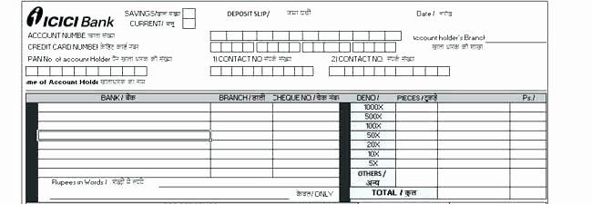 Deposit Slip Template Word Luxury Free Deposit Slip Template Word Receipt Template C Return