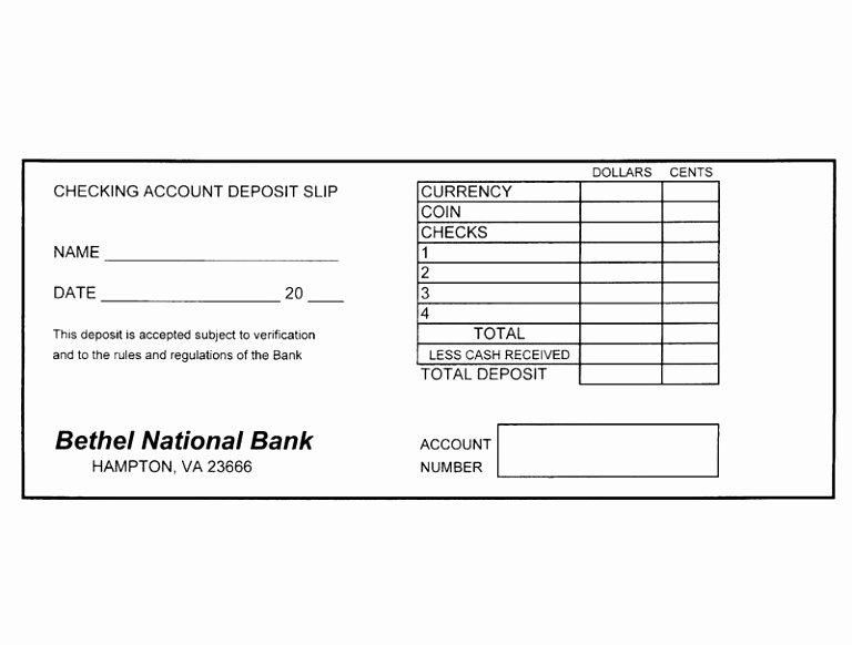 Deposit Slip Template Word New 12 Free Printable Deposit Slip Template Rruur