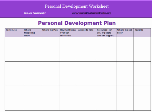 Development Plan Template Word Lovely 6 Personal Development Plan Templates Excel Pdf formats