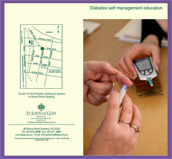 Diabetes Management Plan Template Inspirational Diabetes Brochure Templates 13 Download Documents In