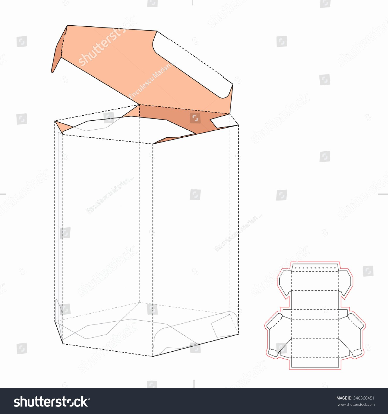 Die Cut Box Template Awesome Diamond Shaped Box Die Cut Template Stock Vector