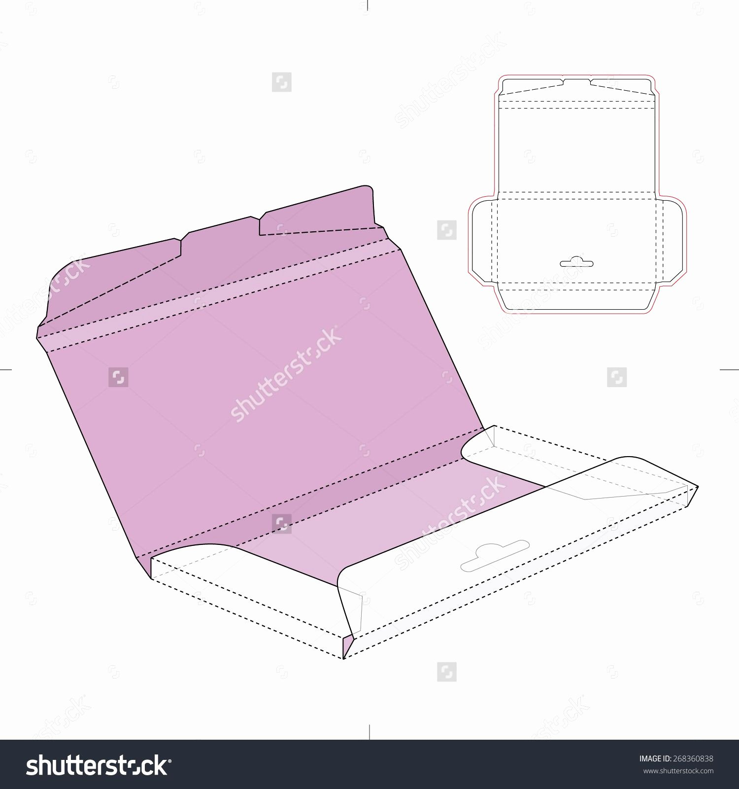 Die Cut Box Template Beautiful Chocolate Box with Die Cut Template Stock Vector
