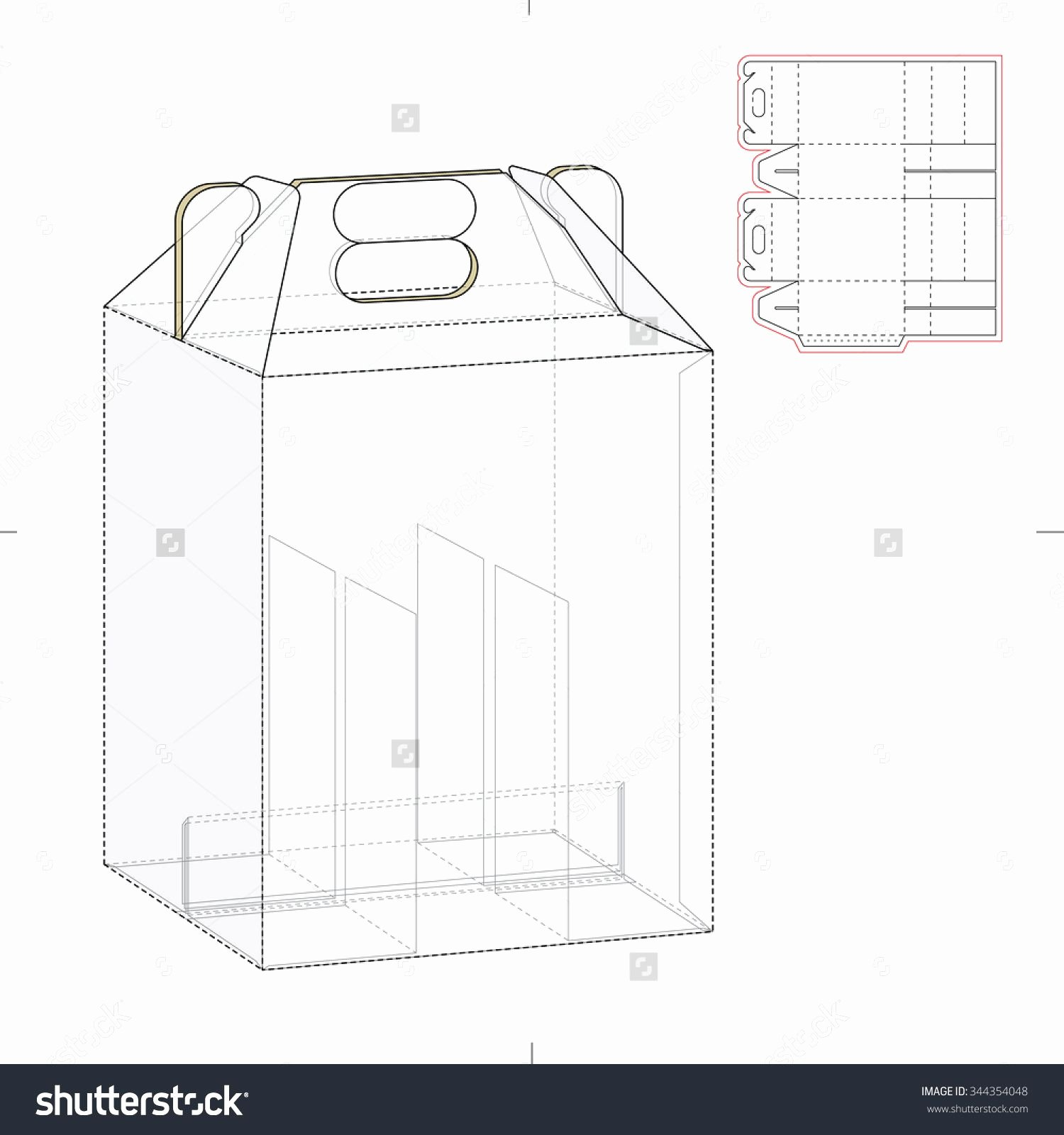 Die Cut Box Template Best Of Six Pack Carrier Box with Die Cut Template Stock Vector