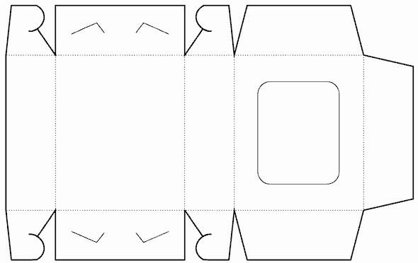 Die Cut Box Template Elegant Die Cutting Image Of Window Box Template No 01