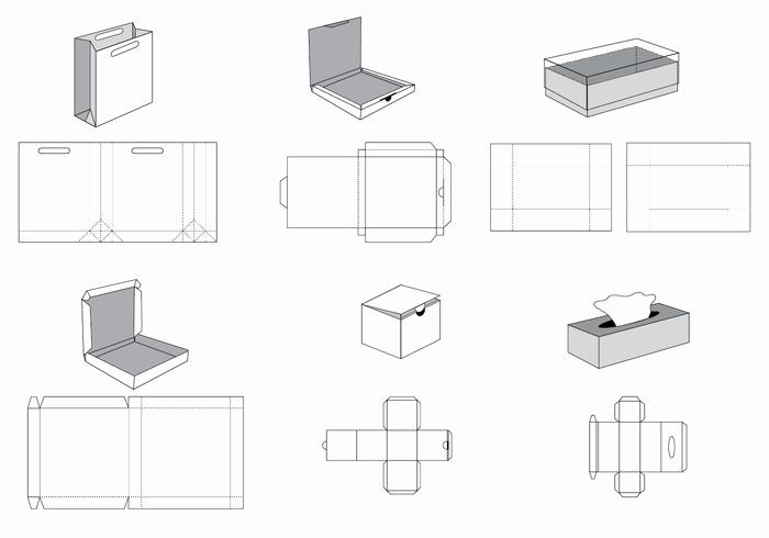 Die Cut Box Template Elegant Free Die Cut Vector Download Free Vector Art Stock