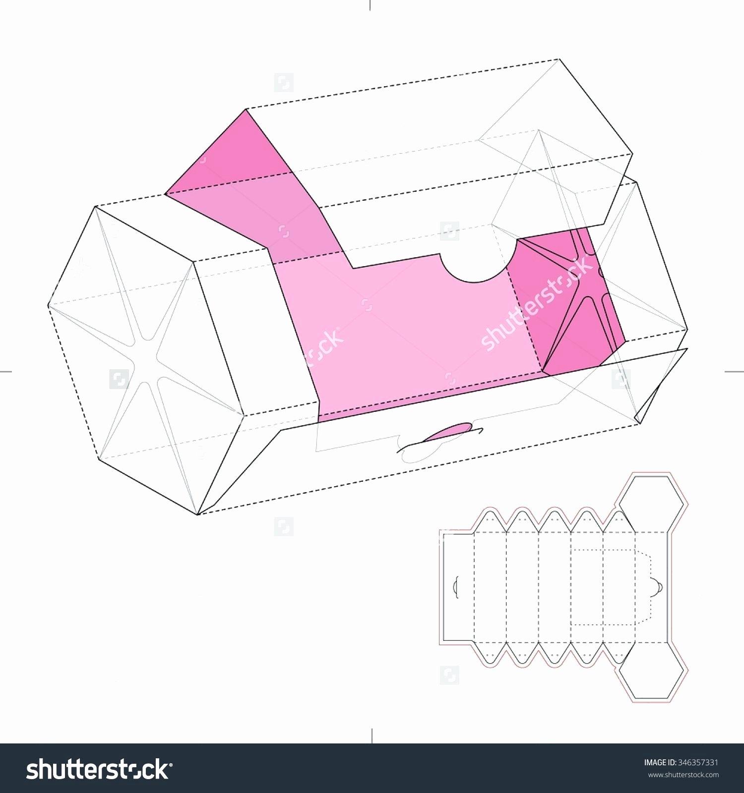 Die Cut Box Template Inspirational Printable Diamond Shape Gift Box Template Printable
