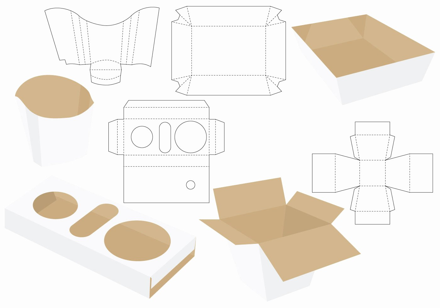 Die Cut Box Template Lovely Die Cut Food Packages Download Free Vector Art Stock