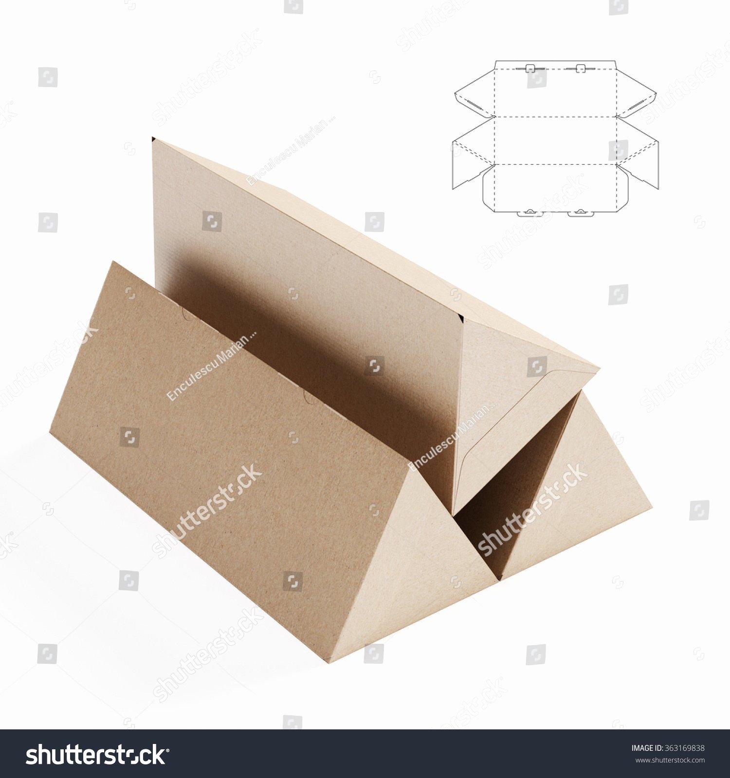 Die Cut Box Template New Triangular Box Die Cut Template Stock Illustration