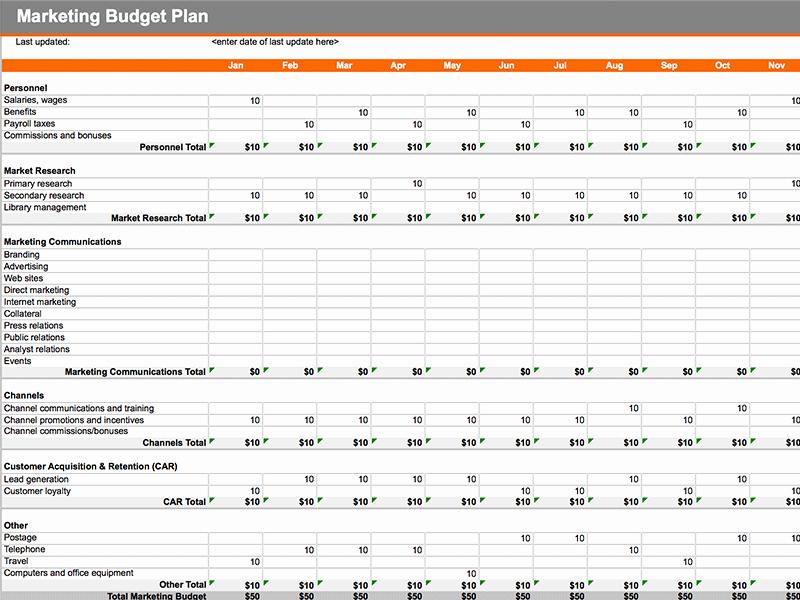 Digital Marketing Budget Template Beautiful Rooming List Template