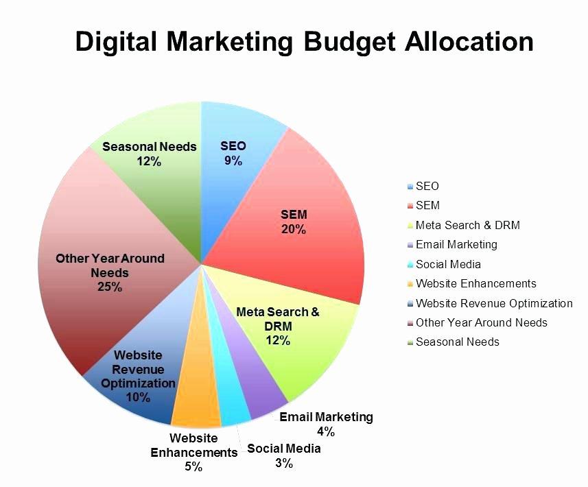 Digital Marketing Budget Template Lovely Digital Marketing Strategy Template Strategic Bud Excel