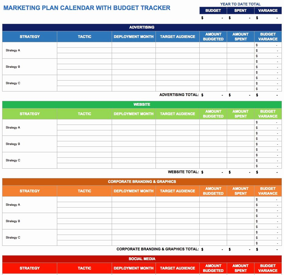 Digital Marketing Budget Template Luxury 9 Free Marketing Calendar Templates for Excel Smartsheet
