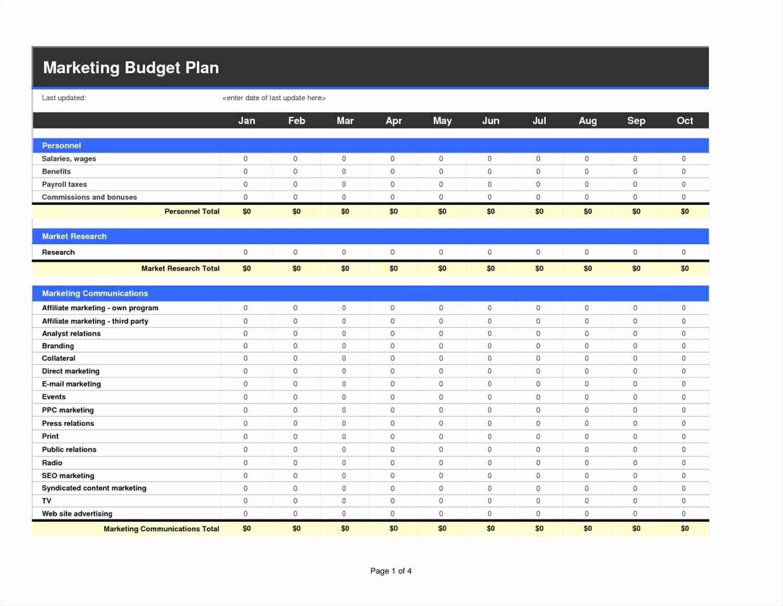 Digital Marketing Budget Template New 10 Free Marketing Bud Spreadsheet